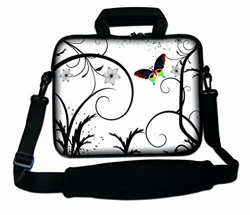 Pro And amp; Ibook Flowers Macbook Strap Air Case Pro Handle Bag White Notebook Laptop Unibody Powerbook Shoulder Apple With Soft Macbook Retina For Aluminum Design Sleeve Butterfly Z1x8qTwSFp