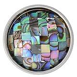 Abalone Mosaic Shell Nugz - interchangeable jewelry snap