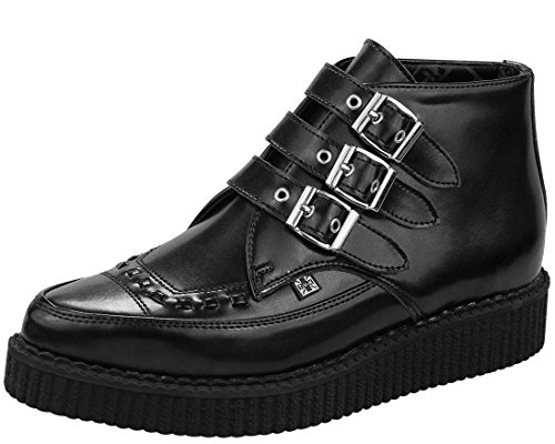 Buckle Creepers (T.U.K. Unisex A8503 Creeper Boot,Black,9 M US)