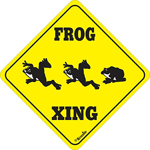 Frog XING Sign