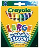 Crayola Crayons Kids First Large Washable 8 in a Box (Pack of 8) 64 Crayons Total