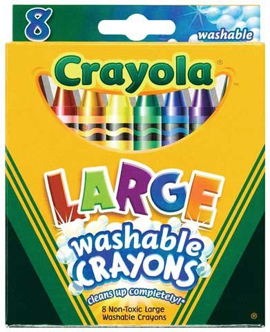 Crayola Crayons Kids First Large Washable 8 in a Box  64 Cra