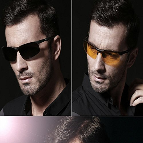 del polarizador Sol wei Las Gafas Gafas del de Negro de Tamaño Un Aluminio Sol de amarillo magnesio de wIwpRqtA