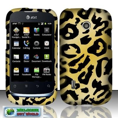 - [Buy World] for Huawei Fusion U8652(at&t) Rubberized Design Cover - Cheetah + Toilet Stand