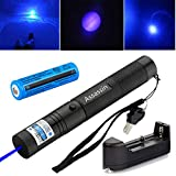 Violetta Shop Best Pocket Flashlight Pointer Pen Tactical Hunting Landscape Outdoor Astronomy Hobby Teacher High Power Blue Purple Pointer US