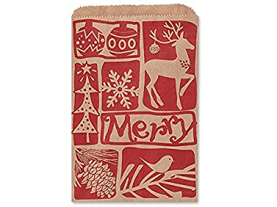 "4-3/4x6-3/4"" Woodcut Christmas (500 Pack )"