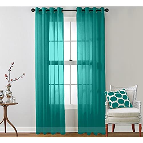 Teal Curtain Panels Amazon Com
