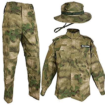 f1844435c3b Amazon.com  A-TACS FG Real Color BDU camouflage battle dress up and ...