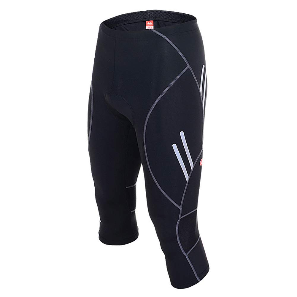 Men's Breathable Cycling Tight Shorts 9D Padded Top Grade Gel Bike Bicycle Sports 3/4 Capri Shorts Quick Dry for Competitive & Leisure Cycling Znds