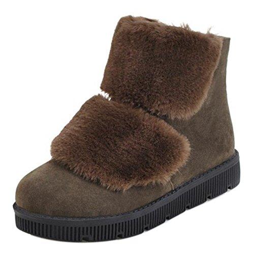 Women Boots Winter Zipper KemeKiss Green HxW1P1Un