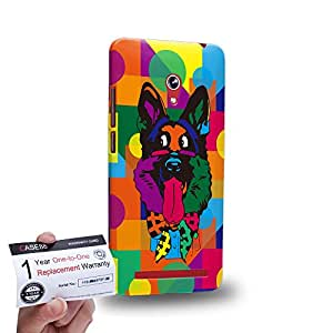 "Case88 [Asus Zenfone 6 6.0"" A600CG] 3D impresa Carcasa/Funda dura para & Tarjeta de garantía - Art Drawing Dog Kawaii Abstract Animals"