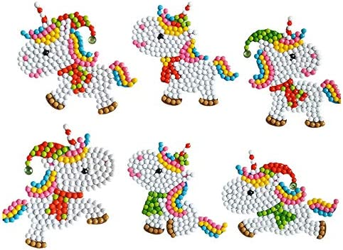 15 Pcs 5D DIY Diamond Painting Kits for Kids and Adult Beginners Handmade DIY Diamond Painting Kits Love Unicorn Mosaics Stickers Gift for Kids for Girls