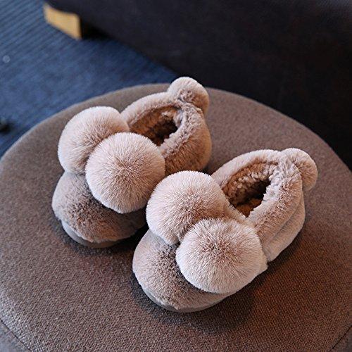 Cotone fankou pantofole femmina inverno soggiorno di una famiglia di tre interne anti-slittamento fondo morbido radice del pacchetto delizioso caldo paio di scarpe di cotone ,35-36, la sua scheda
