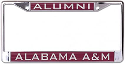 WinCraft Alabama A/&M Bulldogs Alumni License Plate Frame 2 mount holes metal with inlaid acrylic maroon