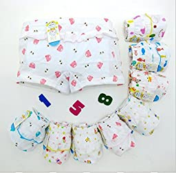 JIEYA 3-pack or 5-pack Baby Little Girls Underwear Pants (Tag size 150(5-6years), 3-pack)