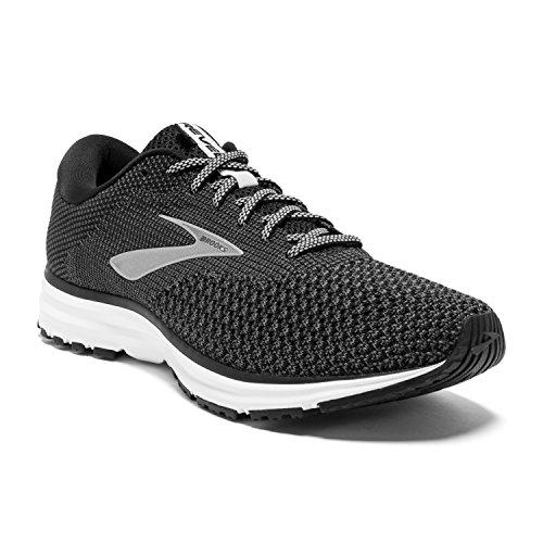 Brooks Mens Revel 2 Running Shoe - Black/Grey/Grey - D - 10.0 (10 Best Running Shoes 2019)
