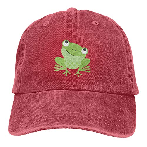 Frog Trucker Hat - Green Frog Man/Women Fun Denim Retro Cowboy Style Sun Hat Trucker Hat Adjustable Dad Hats