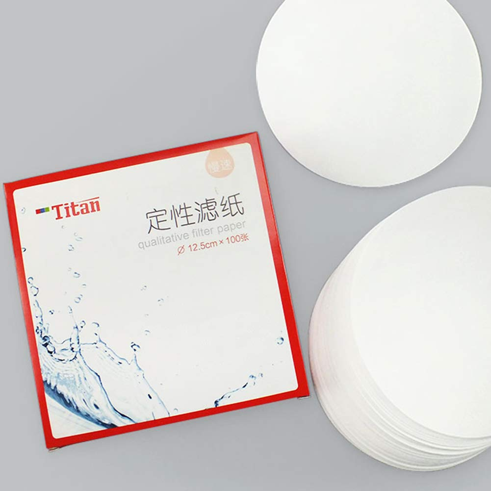 7cm Diameter Pack of 100 Medium Filtration Speed Tansoole Qualitative Filter Paper Circle 30-15 Micron Pore Size
