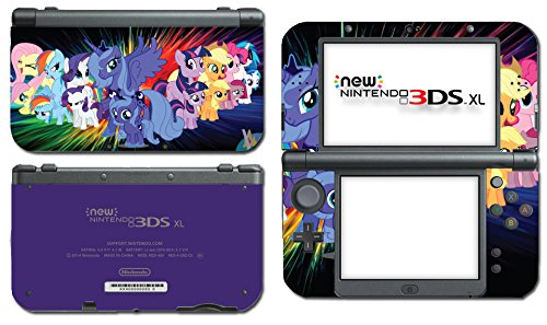 My Little Pony MLP Filly Princess Luna Friends Video Game Vinyl Decal Skin Sticker Cover for the New Nintendo 3DS XL LL 2015 System Console