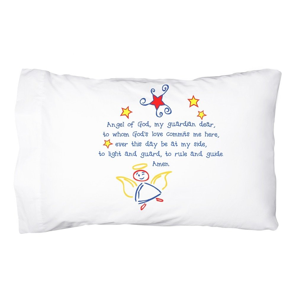 Message Brands Guardian Angel Pillowcase - Primary Colors