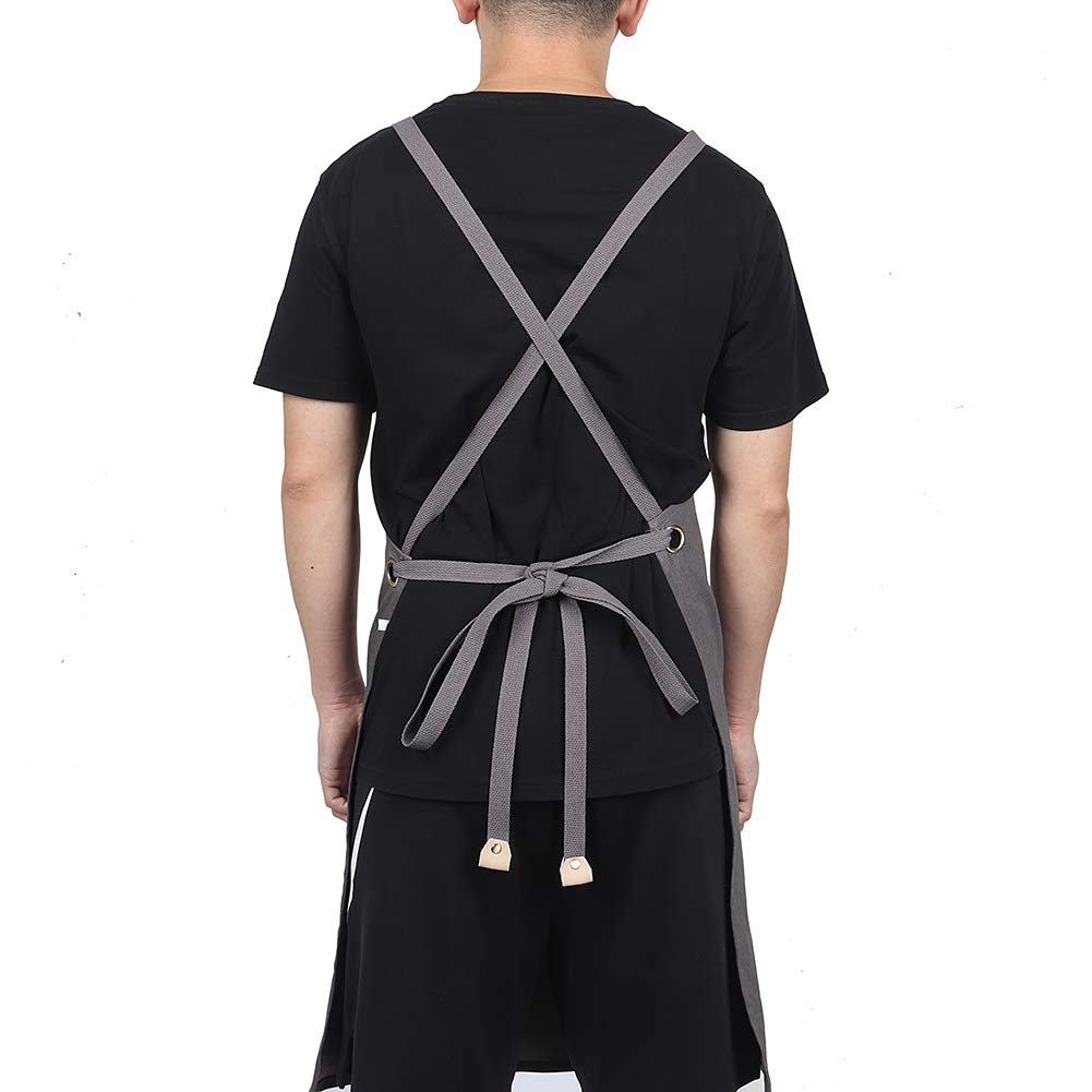 Adjustable Denim Apron Work Apron for Engineers Carpenter Barber Kitchen Garden Pottery Crafting Heavy Duty Tool Apron