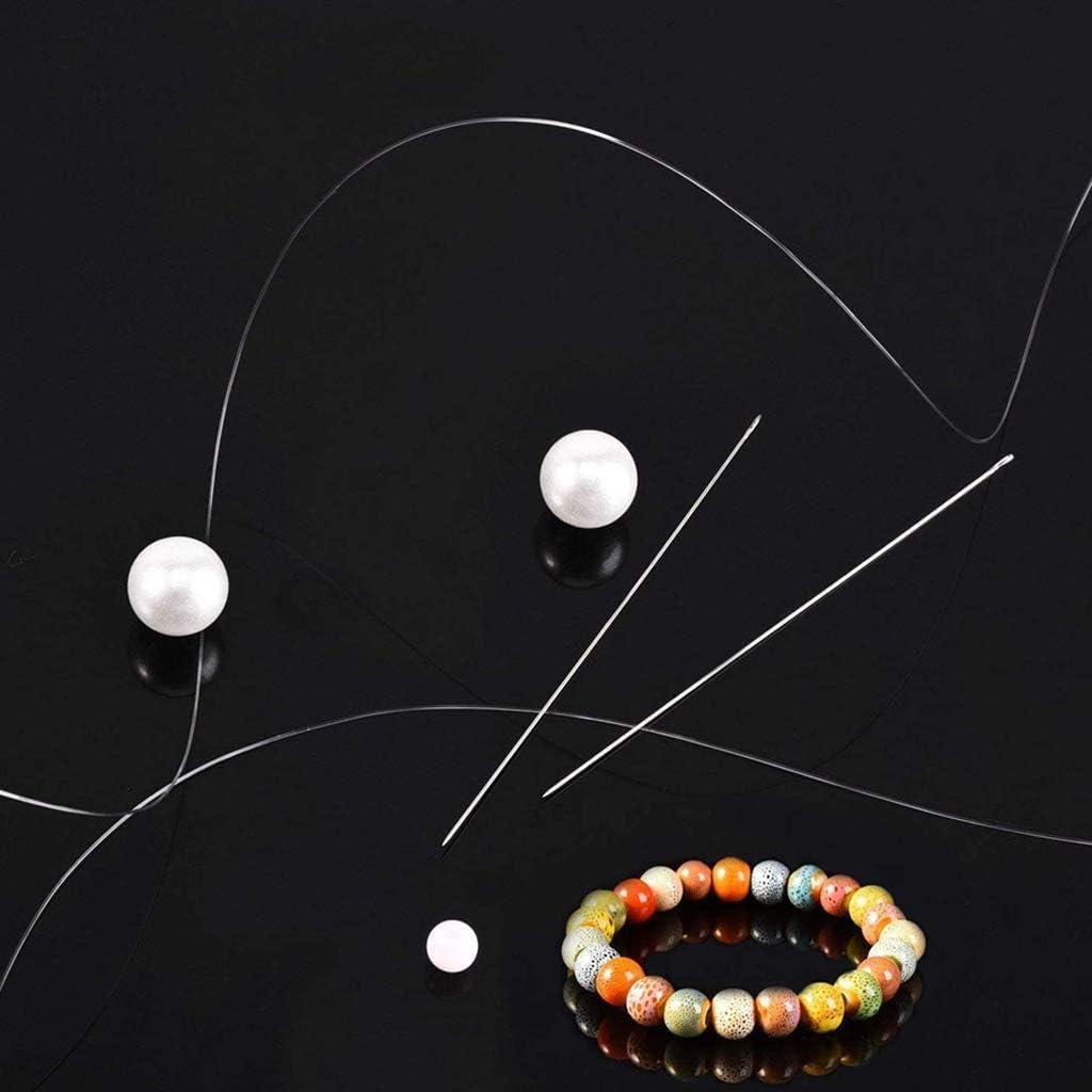 Faguo 47Pcs Aiguilles De Perles De Graines Extra Fine Mince Longue Aiguille Droite Fabrication De Bijoux