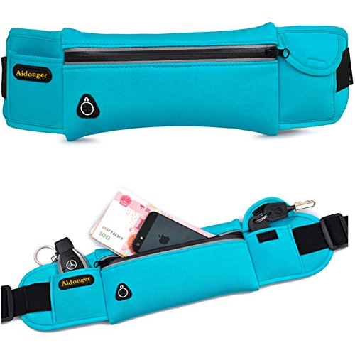 Aidonger Waist Belt Bag for Women Waterproof Sports Waist Pack