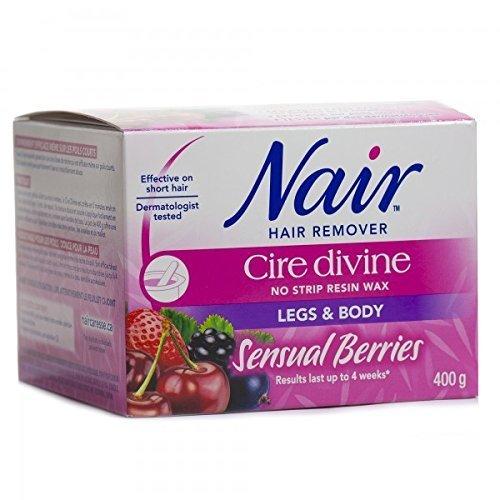 Nair Cire Divine Microwaveable Body Hair Removal Wax Kit (Sensual Berries, 400g/14oz) ()