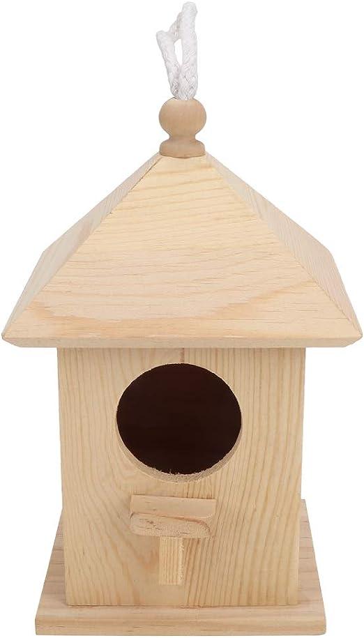Sheens Nido de pájaro de Madera Natural Caja de cría de jardín de pájaros pequeños Pajarera Colgante al Aire Libre para Paloma Gorrión Chickadee Finch: Amazon.es: Productos para mascotas