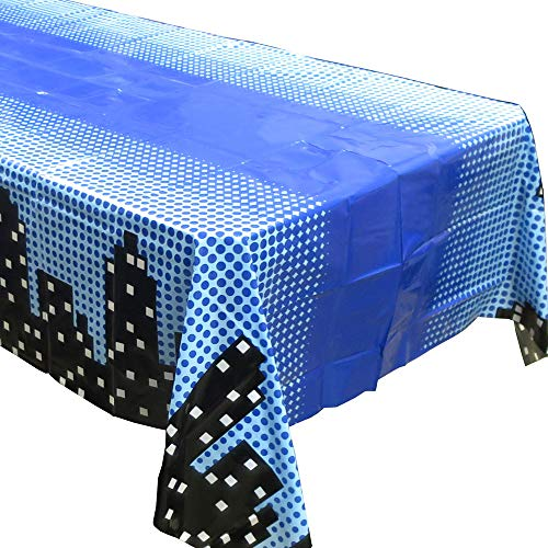 Blue Orchards Superhero Cityscape Tablecovers (2), Boys' Birthdays, Superhero Party Supplies -