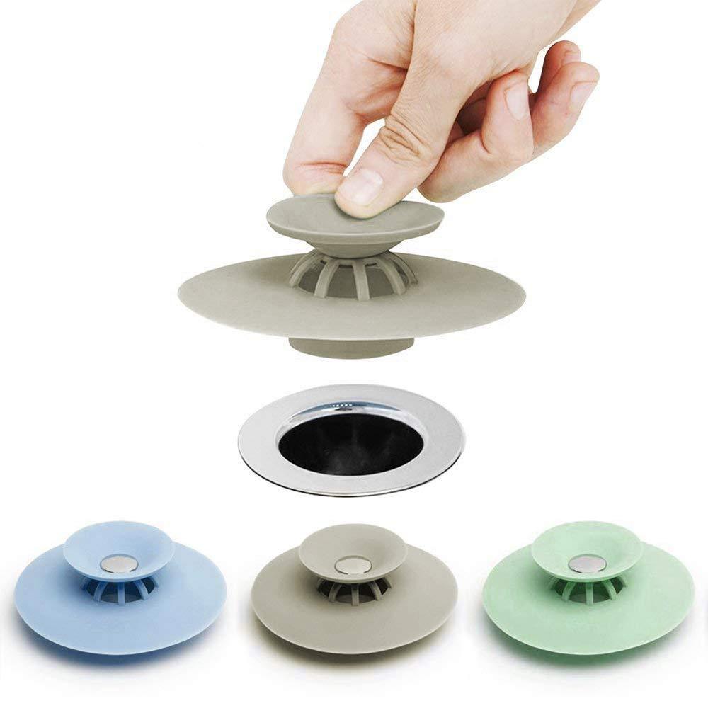 Alxcio Tappi Scarico 3pcs filtro bagno capelli stopper filtro per lavello silicone