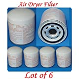 Wholesales price(Lot of 6) Air Dryer Filter 4324100202 1907612 Fits :Freightliner - Mack - Volvo - Bluebird Cummins - Mack - Ihc/navistar Kenworth -Peterbilt -Prevost - Sterling - Volvo - Western Star