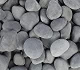 Margo 30lb.Small Mexican Beach Pebble 1 in. to 2 in. (30 lb - 3 Packs, Mexican Grey)