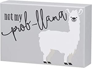 Collins Painting Llama Humor Wood Block Sign (Not My Prob-Llama)