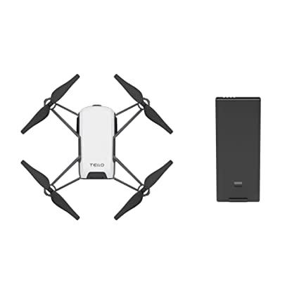 Tello Quadcopter Drone with HD camera and VR,powered by DJI technology and  Intel processor,coding education,DIY accessories,throw and fly (With Extra