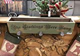 Christmas Stocking Hanger Mantle Box Engraved Wood
