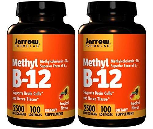 Jarrow Formulas - Methyl B-12, Tropical Flavor, 2500 mcg, 100 Lozenges