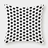 iPrint Microfiber Throw Pillow Cushion Cover,Sports Decor,Soccer Ball Pattern Athletic Sport themed Geometric Modern Artistic Design,Decorative Square Accent Pillow Case