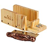 Nicole Loaf Soap Cutter Tools Set Adjustable Wooden Box with Stainless Steel Blade Cold Processing Kit