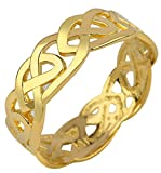 Solid Gold Celtic Wedding Band Trinity Knot Eternity Ring (10k) (7.25)
