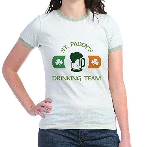 CafePress - St. Paddy's Drinking Team - Jr. Ringer T-Shirt, Slim Fit 100% Cotton Ringed Shirt - T-shirt Drinking Team Ringer