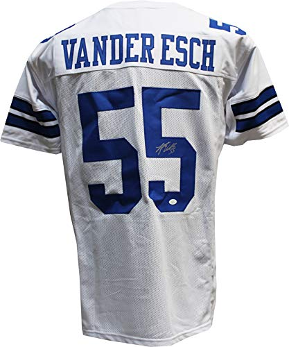 5154bc63970 Dallas Cowboys Autographed Jerseys. Authentic Leighton Vander Esch  Autographed Signed Custom White Jersey JSA ...