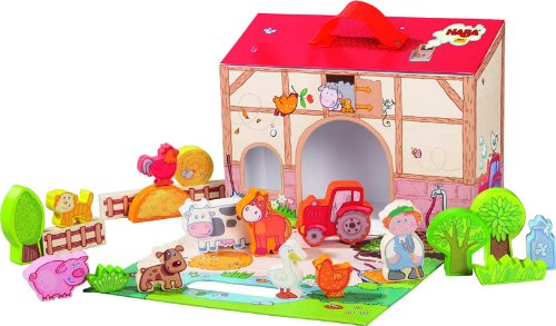 Goose Yard Block (HABA On the Farm Large Portable Take Along Play Set with 22 Wooden Pieces (Made in Germany))