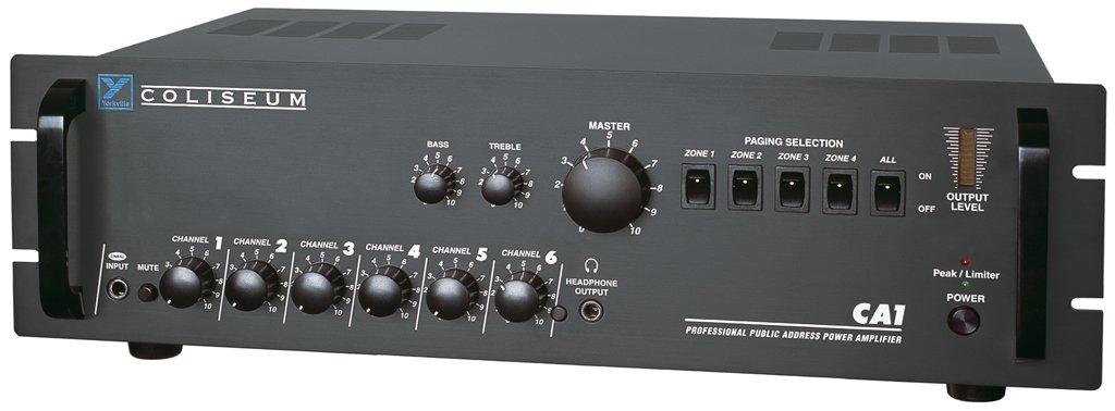 Yorkville CA1 Amplifier 70 Volt 6 Channel Public Address Amp Rack Mountable Steel Chassis Black