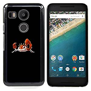 - Krabby P0Kemon - - Cubierta del caso de impacto con el patr??n Art Designs FOR LG Google Nexus 5X Queen Pattern