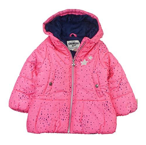 Osh Kosh Baby Girls Hooded Peplum Jacket Coat, Pink, 18M