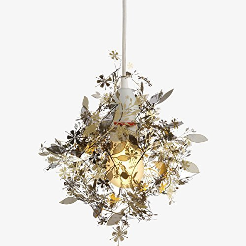 Metal Flower Pendant Light in US - 8