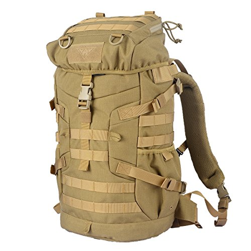 YAKEDA 50 L Internal Frame Backpack Hiking Backpacking Packs for Outdoor Hiking Travel Climbing Camping Mountaineering Daypack Travel Backpack Daypack-A88052 (khaki)
