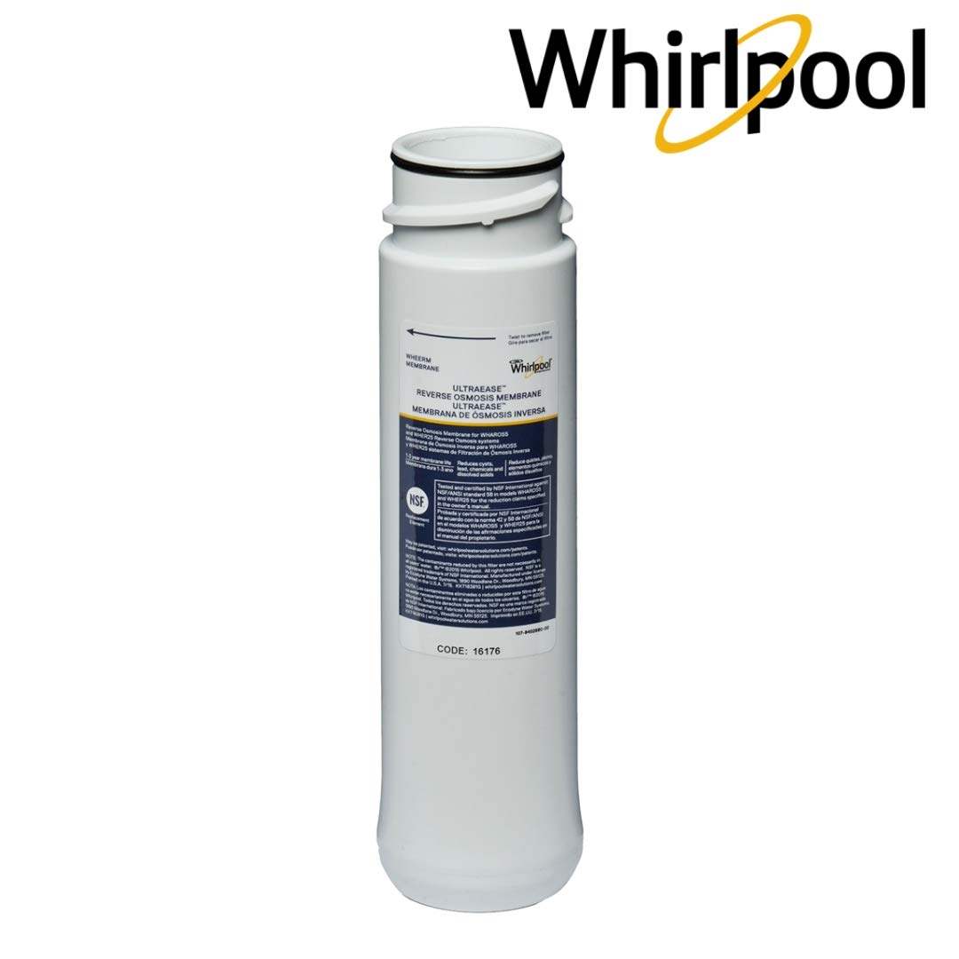 Whirlpool WHEERM Reverse Osmosis Replacement Membrane|Fits WHAPSRO, WHAROS5 & WHER25 Filtration Systems|Easy To Replace UltraEase Filter Cartridges |Extra Long Life | 1 Filter by Whirlpool