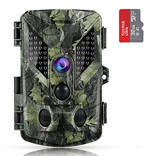 ABASK Trail Cameras, 16MP 1080P HD Game Cameras with Night Vision Motion Activated Waterproof, Hunting Camera 940nm 44 Pcs IR LEDs Wildlife Trail Surveillance Cam, 2.4″ LCD & 120°Wide Angle Lens